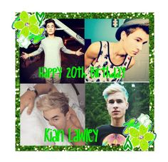 """Happy Birthday Kian Lawley"" by moxley-monieth ❤ liked on Polyvore featuring arte"