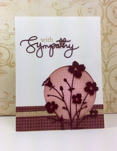 Sympathy Sentiment: SSS, #SSSFAVE, Bella Bouquet: Memory Box, by Beesmom at splitcoaststampers