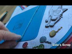 Album de Gatos. Cat's album with Tim Holtz stamps. DIY Scrapbook - YouTube