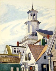 Methodist Church Tower (1930) – Edward Hopper