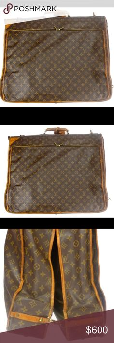 Louis Vuitton Monogram Canvas Cabine Garment Bag Authentic Louis Vuitton Cabine Garment Bag. Perfect for a weekend getaway or a grand tour. Iconic Monogram Canvas with vachetta leather accents and gold tone hardware. Zip closure, interior pocket and hanging hook. The canvas is in fantastic condition with the leather showing some aging. Guaranteed Authentic! Date Code SP0094 (France 1994) Please feel free to ask any questions. Sorry no trades at this time. 102998 Louis Vuitton Bags Travel…
