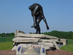 WWI memorial in Fromelles, France dedicated to the Australian soldiers who died there.
