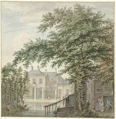 Hermanus Petrus Schouten | View of Luxemburg House at Maarssen on the Vecht, Hermanus Petrus Schouten, 1757 - 1822 |