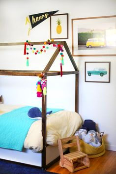 DIY IKEA Kura bed hack - add a roof to your toddler's bed.