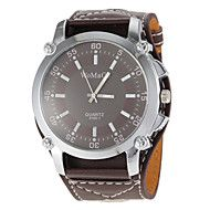 Unisex Brown Dial Wide PU Band Quartz Wrist Watch. Get sizzling discounts up to 80% Off at Light in the box using Coupon Codes.