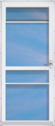Chamberdoor Regal 36 X 80 Nickel Hardware Aluminum Splitview Storm Screen Door