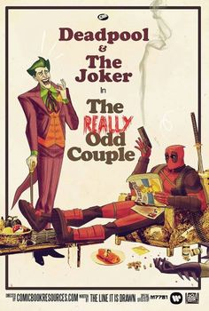"Deadpool and The Joker Fan Art - ""The Really Odd Couple"""