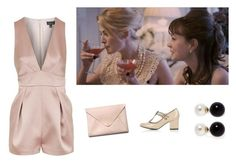 """""""70. Pink"""" by wednesday12 ❤ liked on Polyvore featuring Topshop, HarLex and Kenneth Jay Lane"""
