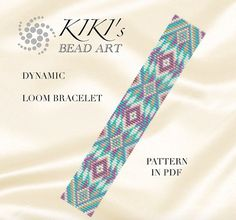 Bead loom pattern  Dynamic LOOM bracelet pattern in PDF