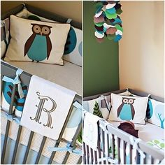 Owl nursery with Dwell Studio bedding. - Click image to find more Home Decor Pinterest pins