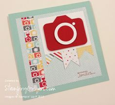 use the Stampin' Up! envelope punch board to make a camera