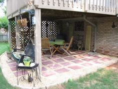 find this pin and more on favorite places spaces under deck patio - Patio Ideas Under Deck