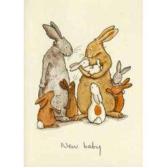 rabbit new baby card