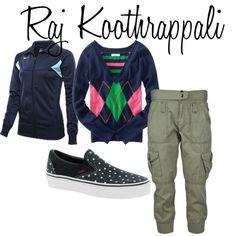 """Raj Koothrappali"" by ashley-nicole-parris on Polyvore"