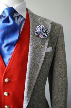 suit and tie. Sharp Dressed Man, Well Dressed Men, Look Fashion, Mens Fashion, Winter Typ, Tweed Blazer, Tweed Jacket, Suit And Tie, Gentleman Style