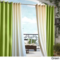 Gazebo Grommet Top 84 inch Indoor/ Outdoor Curtain Panel   Overstock.com Shopping - Great Deals on Curtains