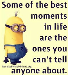 """Minion Quotes Love are cute captivating and funny. So scroll down and keep reading these """"Top Minion Quotes Love - Hilarious Humor Pictures Clean & Famous"""". Minion Humour, Minion Jokes, Minions Quotes, Funny Minion, Minion Love Quotes, Image Minions, Minions Love, Minion Things, Minion Pictures"""