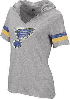 Hooded St. Louis Blues T-Shirt! I will take one in Blues and Cardinals, please!