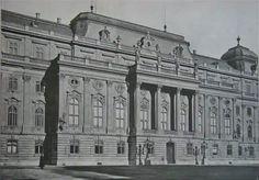Budavári Palota - Trónterem homlokzata Old Pictures, Old Photos, French Homes, Buda Castle, Royal Palace, Budapest Hungary, Palaces, Historical Photos, 18th Century