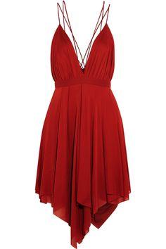 Balmain|Mini-robe en crêpe de jersey drapé|NET-A-PORTER.COM