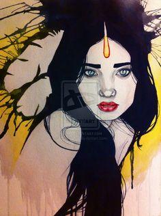Yellow sky Girl by ~CordellOrr on deviantART