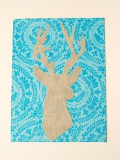 Stylish Christmas Deer Silhouette » Flamingo Toes