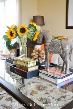 Fall home tour - Whats Ur Home Story - Neutral Fall decorating