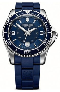 Victorinox Swiss Army® 'Maverick GS' Rubber Strap Watch, 43mm available at #Nordstrom