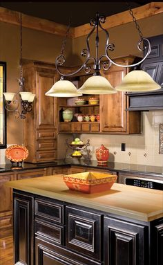 Oil Rubbed Bronze Island and Billard Light with Frosted Ivory Glass Antique Kitchen Cabinets, Refacing Kitchen Cabinets, Kitchen Countertops, Kitchen Sinks, Kitchen Island, Oak Cabinets, Cupboards, Kitchen Utensils, Primitive Kitchen