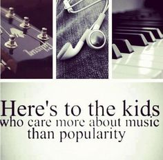 I love music! Music is my life. Popularity was something that cause hurt in my life. When i started playing music, I could be myself and let all my anger out by singing and playing piano. I want to be a voice for everyone who hates popularity. I Love Music, Music Is Life, My Music, Kids Music, Music Class, Rock Music, Band Nerd, Band Mom, Music Lyrics