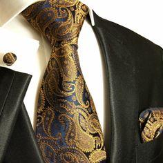 Elegant Paul Malone Silk Tie Set (512CH)