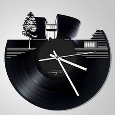 anynOOn / Pamätník SNP, Banská Bystrica - vinylové hodiny na LP