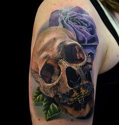 women-shoulder-skull-tattoo-design-with-moths-and-rose