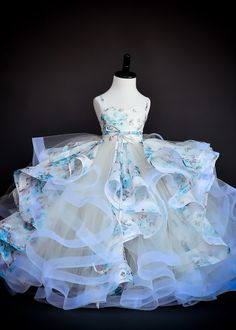 ANNA TRIANT COUTURE Blooming Blue         $750.00