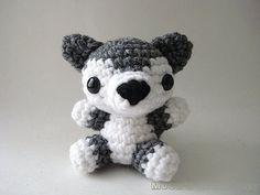 Gray Wolf Pup Amigurumi Doll by Moon's Creations on Etsy