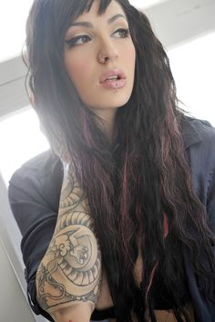 sleeves x #tattos x #piercings you can still be beautiful with all these things....moooomm!