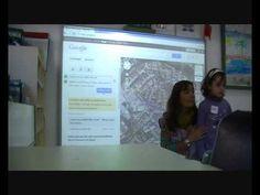 Utilizar Google maps en Infantil: Los chicos y las chicas de la clase de 4 años del Colegio Nuestra Señora del Carmen buscan junto a su profe Salomé cómo llegar al Museo de la Ciencia de Murcia, utilizando la PDI y la aplicación de Google Maps