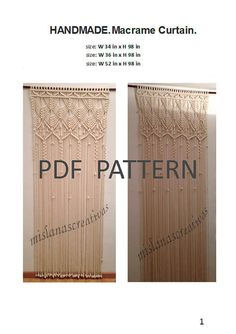 Hey, I found this really awesome Etsy listing at https://www.etsy.com/listing/261533097/pdf-instructions-macrame-curtain