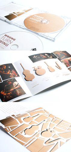 Wrong Turn Swing by Christian Jakob, via Behance #jazz #cd #artwork #design