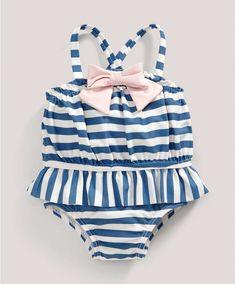 Stripe Swimsuit - All Girls - Mamas & Papas