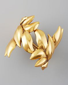 Gold Leaf Bracelet by Oscar de la Renta at Neiman Marcus.