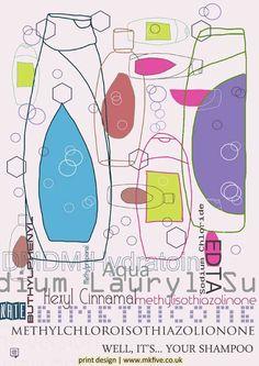 Well...it's your shampoo - poster print design by popular artist, Robert Rusin.