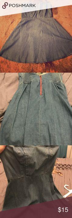 Urban Outfitters Denim Dress NEVER WORN! Urban Outfitters denim strapless dress, size Large. Urban Outfitters Dresses Strapless