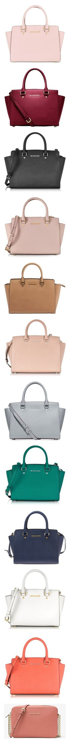 """""""Crossbody"""" by poxleitner15 ❤ liked on Polyvore featuring bags, handbags, michael kors satchel, pink satchel purse, michael kors crossbody, satchel purses, michael kors purses, cherry, red leather satchel and leather handbags"""