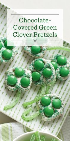 Easy, fun, and delicious! Try our chocolate-covered green clover pretzels this St. Patrick's Day. Make 'em in a snap and take them wherever you go for a portable snack.
