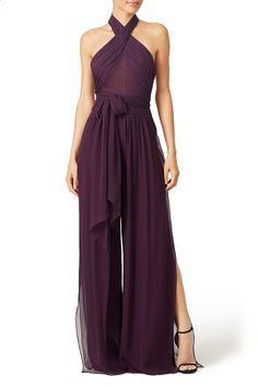 Rent Purple Robbins Jumpsuit by Rachel Zoe for & only at Rent the Runway. Formal Jumpsuit, Wedding Jumpsuit, Prom Pant Suit, Bridesmaid Dresses, Prom Dresses, Formal Dresses, Cocktail Dress Prom, Jumpsuits For Women, Women's Fashion Dresses