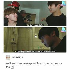 Jungkook is too young to be responsible