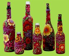 garrafas-decoradas., painted bottle