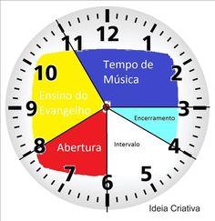 Meninas, Olhem o relógio que a Éricka Thomas (Araranguá-SC) fez um arquivo bem legal com a rotina da Primária: Esse adesivo é para as...