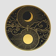 Constellations Discover Decorative graphic design element in oriental style. Vector hand drawing illustration Decorative graphic design element in oriental style. Arte Yin Yang, Yin Yang Art, Yin And Yang, Art Design, Design Elements, Moon Design, Aesthetic Design, Oriental Fashion, Oriental Style